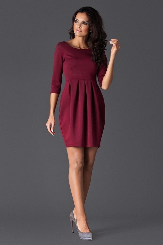 Dámské šaty FIGL M122 vínové de6f571719b
