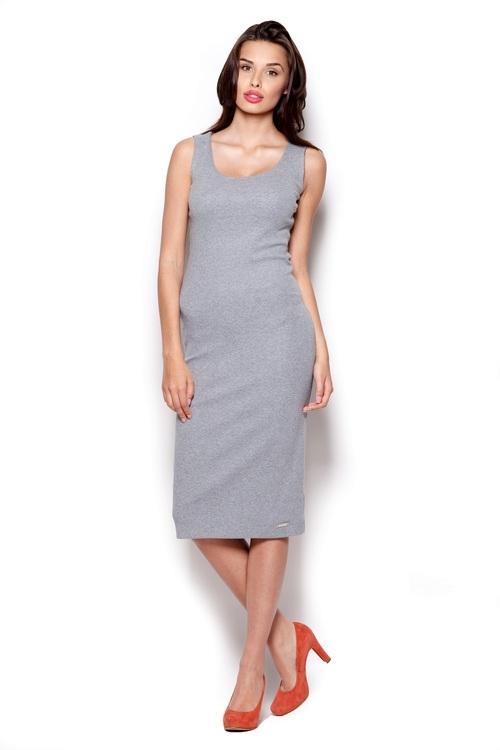 Dámské šaty FIGL M282 šedé