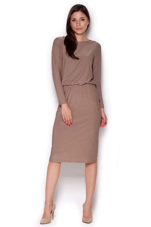 Dámské šaty FIGL M326 béžové