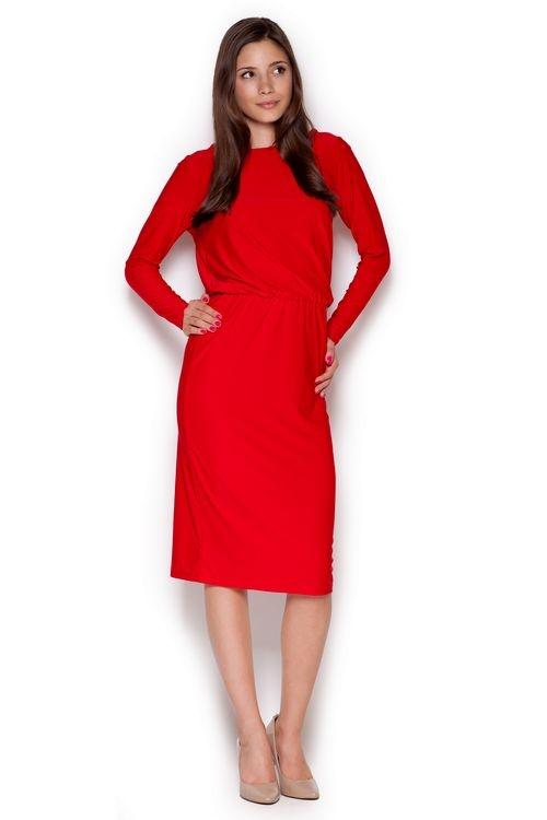 Dámské šaty FIGL M326 červené