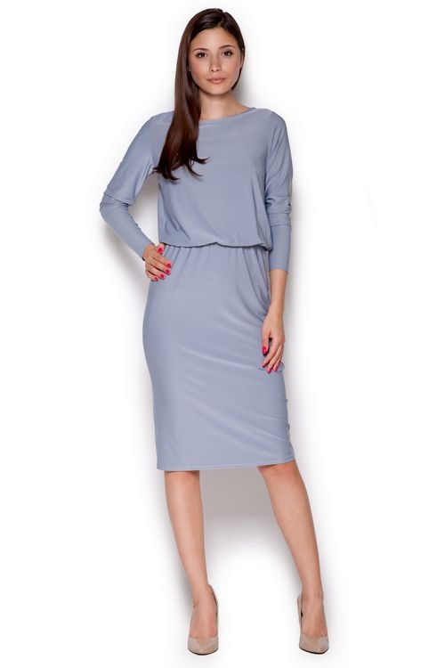 Dámské šaty FIGL M326 šedé