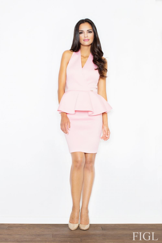 Dámské šaty FIGL M368 růžové