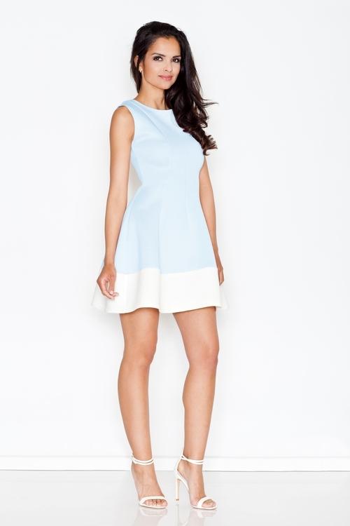 Dámské šaty FIGL M373 modré