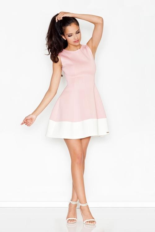 Dámské šaty FIGL M373 růžové