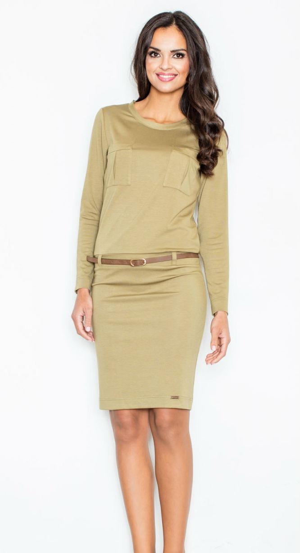 98512efd36f8 Dámské šaty Figl M414 olivové