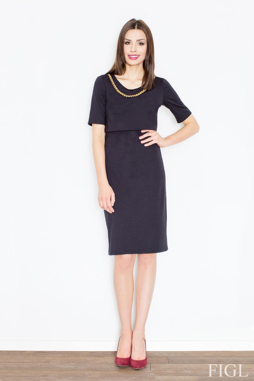 Dámské šaty FIGL M446 černé