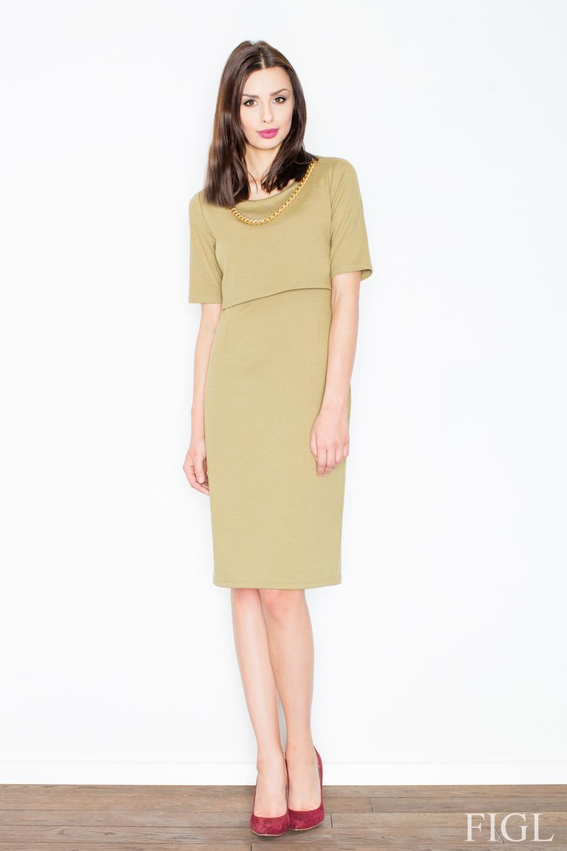 Dámské šaty FIGL M446 olivové