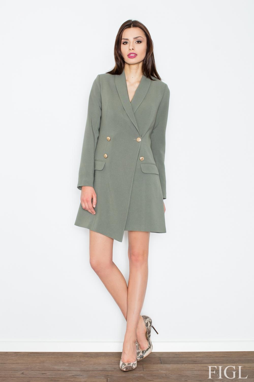 Dámské šaty FIGL M447 olivové