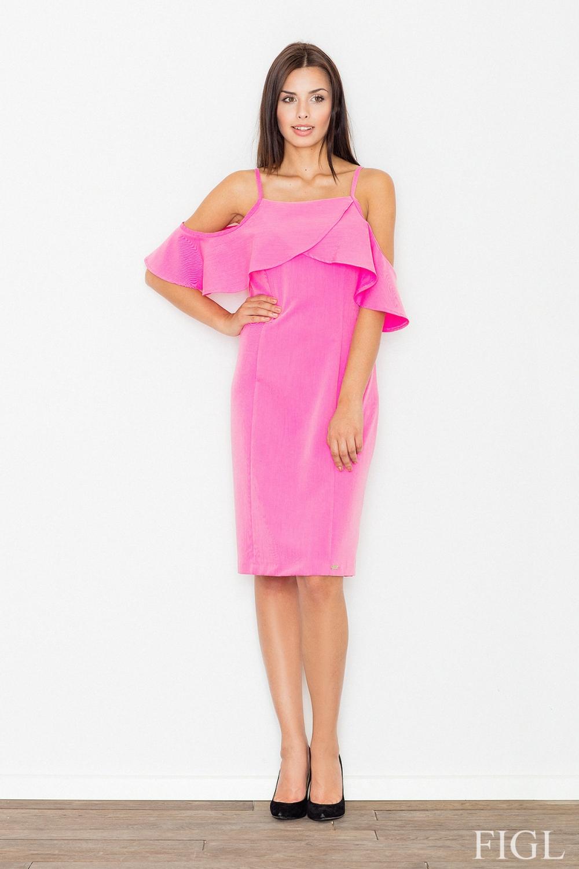 Dámské šaty FIGL M478 růžové