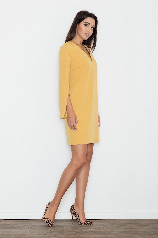 Dámské šaty Figl M550 žluté