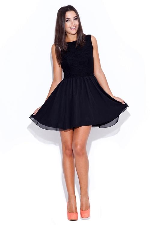 Dámské šaty Katrus K007 černé