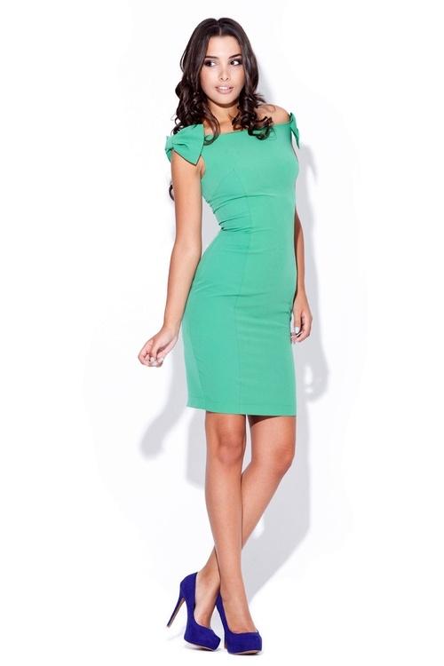 Dámské šaty Katrus K028 zelené