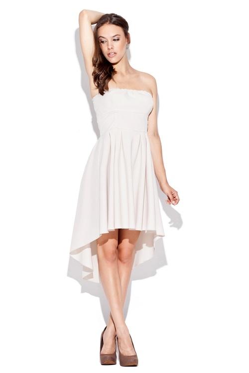 Dámské šaty Katrus K031 béžové