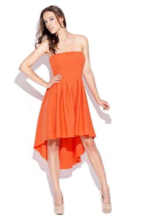 Dámské šaty Katrus K031 oranžové