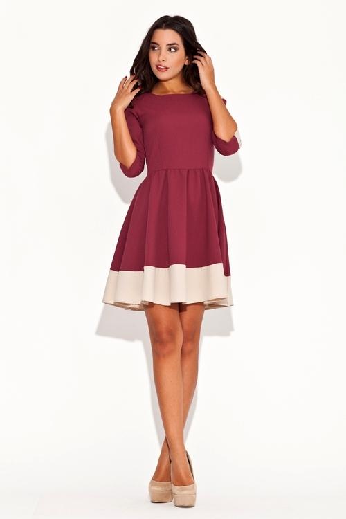 Dámské šaty Katrus K057 červené