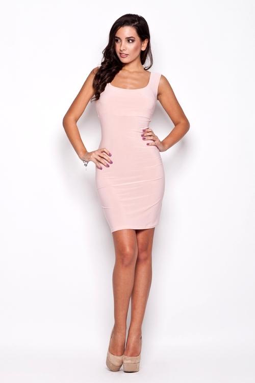 Dámské šaty Katrus K081 růžové