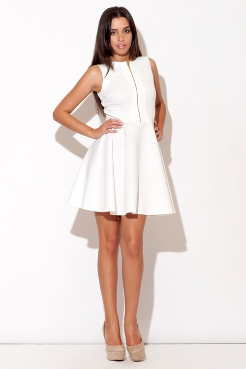 Dámské šaty Katrus K098 krémové