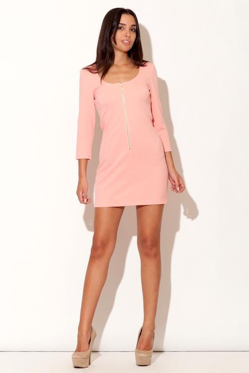 Dámské šaty Katrus K104 růžové
