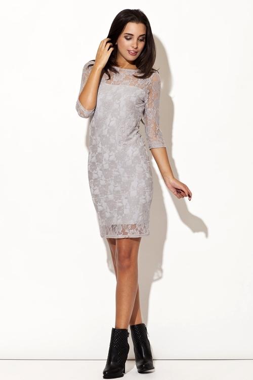 Dámské šaty Katrus K109 šedé