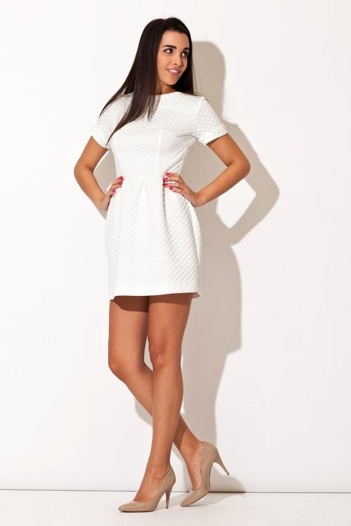 Dámské šaty Katrus K147 krémová