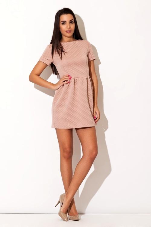 Dámské šaty Katrus K147 růžové