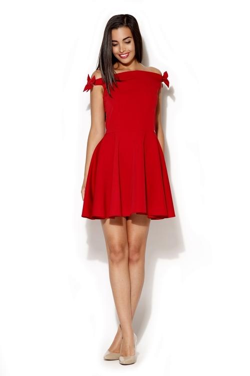 Dámské šaty Katrus K170 červené