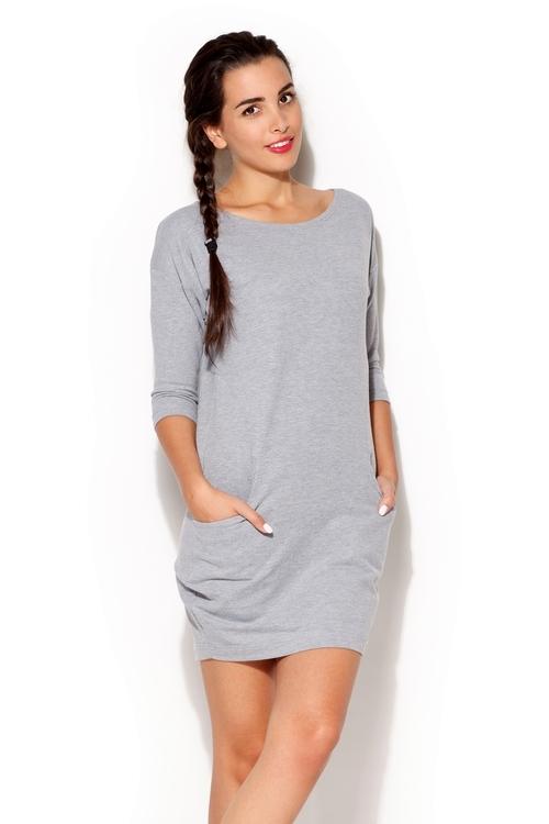 Dámské šaty Katrus K181 šedé