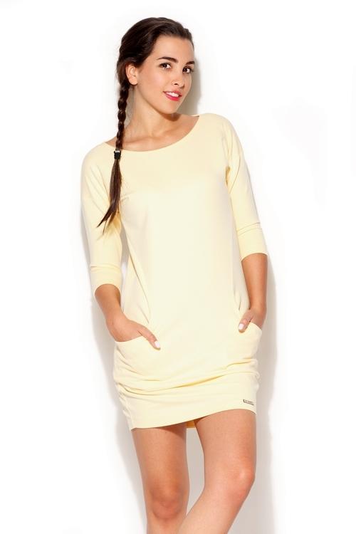 Dámské šaty Katrus K181 žluté