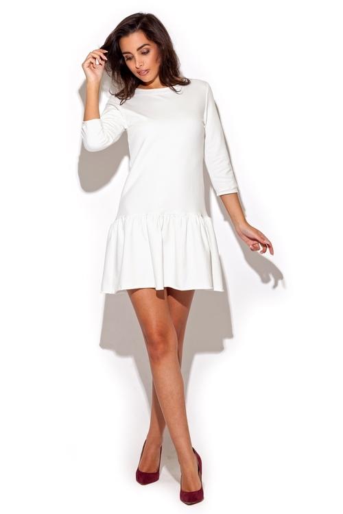 Dámské šaty Katrus K222 bílé