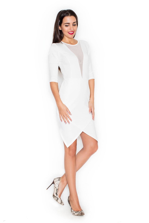 Dámské šaty Katrus K320 krémové