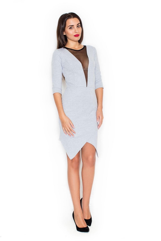 Dámské šaty Katrus K320 šedé