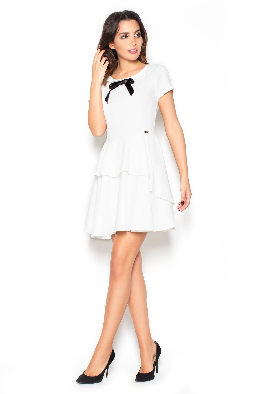 Dámské šaty Katrus K367 bílé