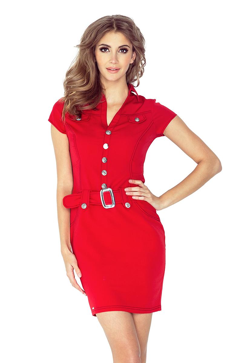 Dámské šaty Numoco 142-4 červené