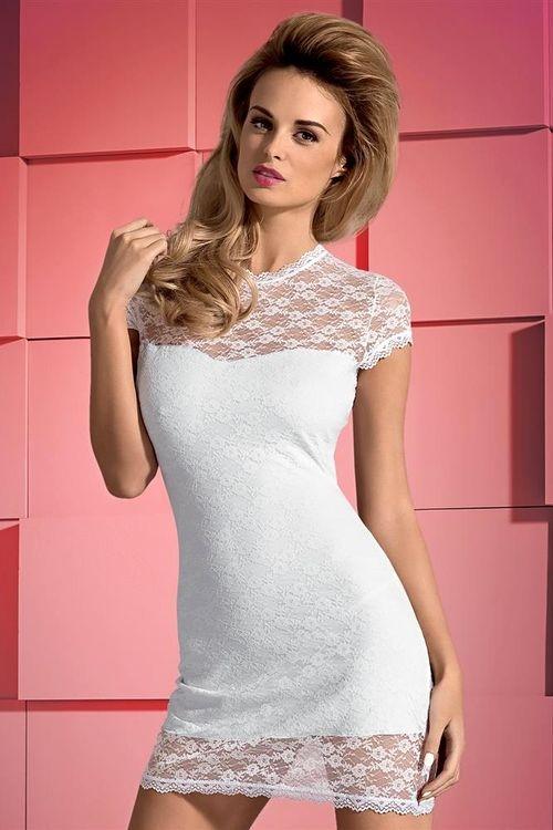 Dámské šaty Obsessive Dressita bílé