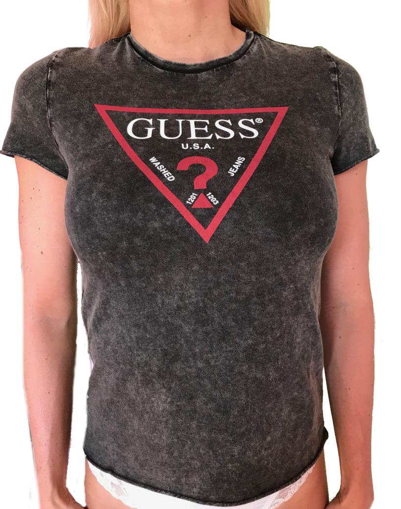 f84e5d3158 Dámské tričko Guess O82I06 černé