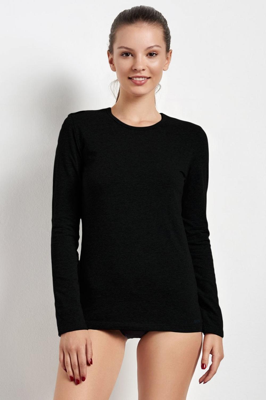 Dámské triko s dlouhým rukávem Esotiq 20735 černé