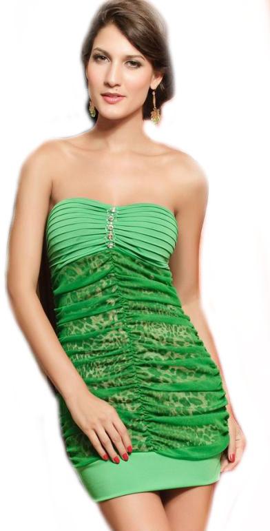 Dámské zelené šaty Damson d-sat227ze