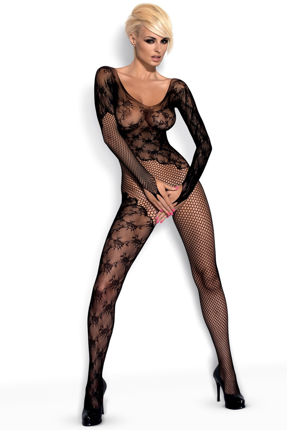 Dámský bodystocking Obsessive F210 black