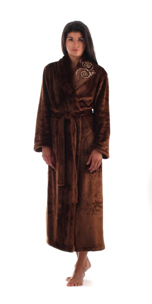 Dámský dlouhý župan Vestis 2656 Orient čokoládový