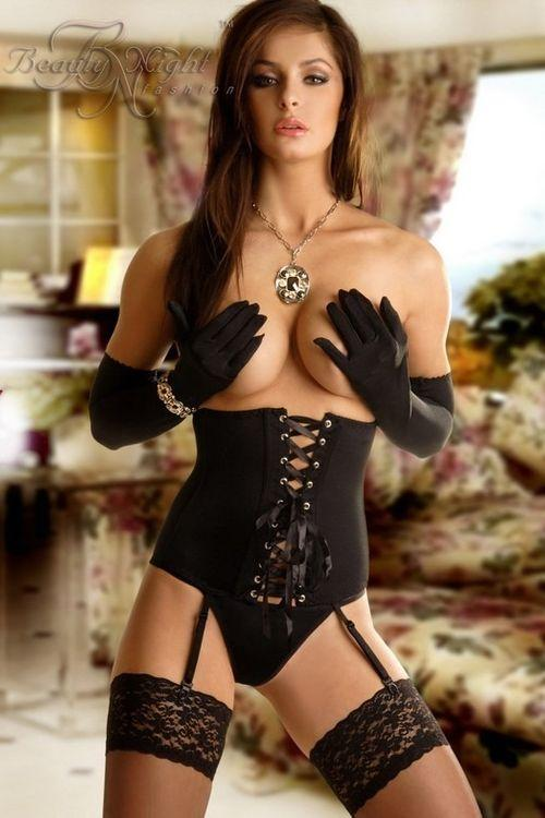 Dámský erotický korzet Beauty Night fashion Carmen black
