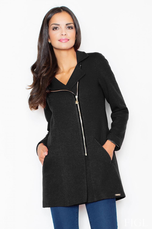 Dámský kabát FIGL M405 černý