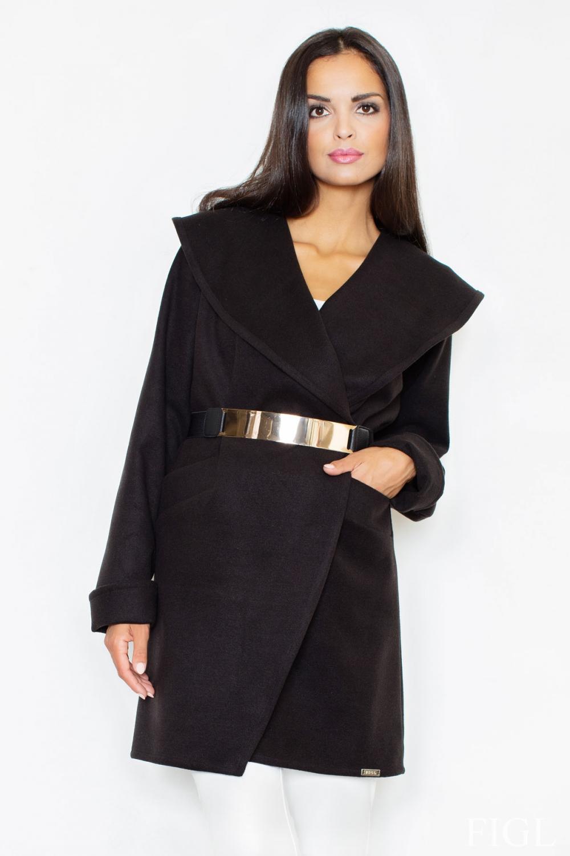 Dámský kabát FIGL M407 černý