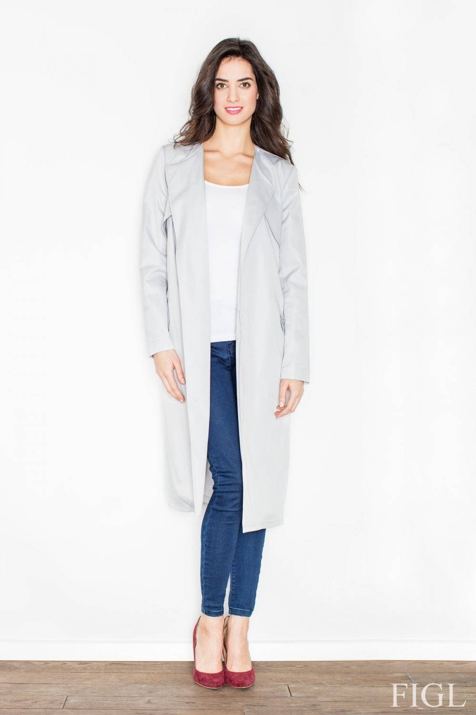 Dámský kabát FIGL M427 šedý
