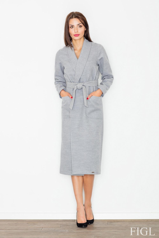 Dámský kabát FIGL M532 šedý