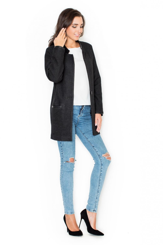 Dámský kabát Katrus K307 černý