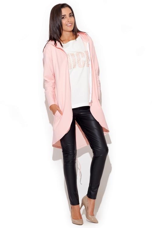 Dámský kabátek Katrus K215 růžový