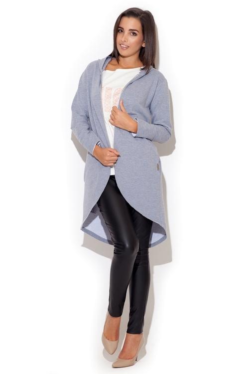 Dámský kabátek Katrus K215 šedý