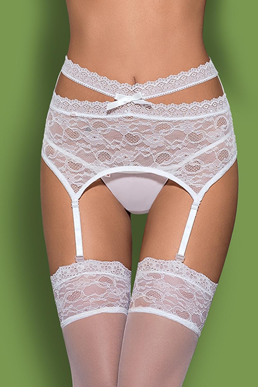 Dámský podvazkový pás Obsessive Swanita garter belt