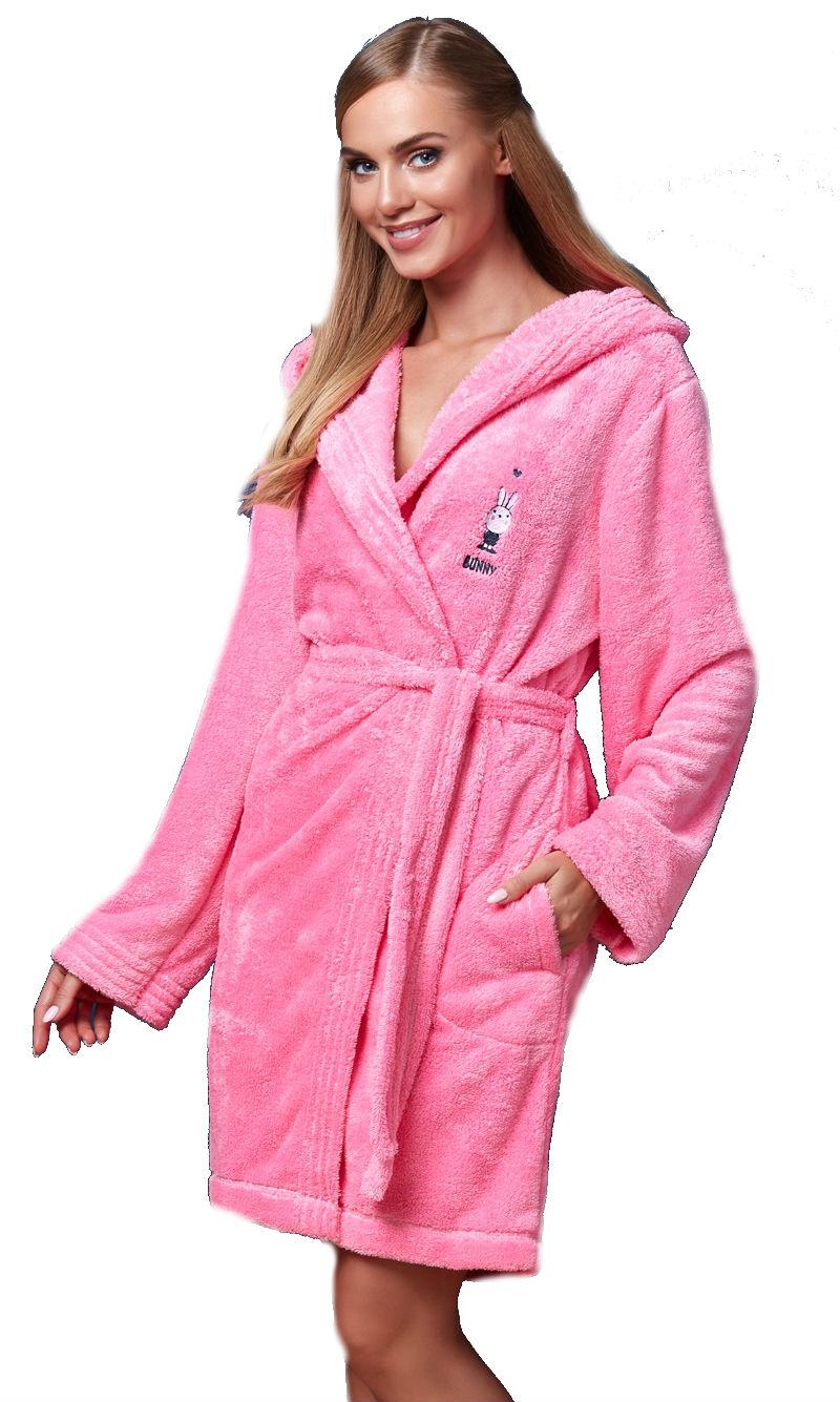 Dámský župan LandL BB 7108 pink