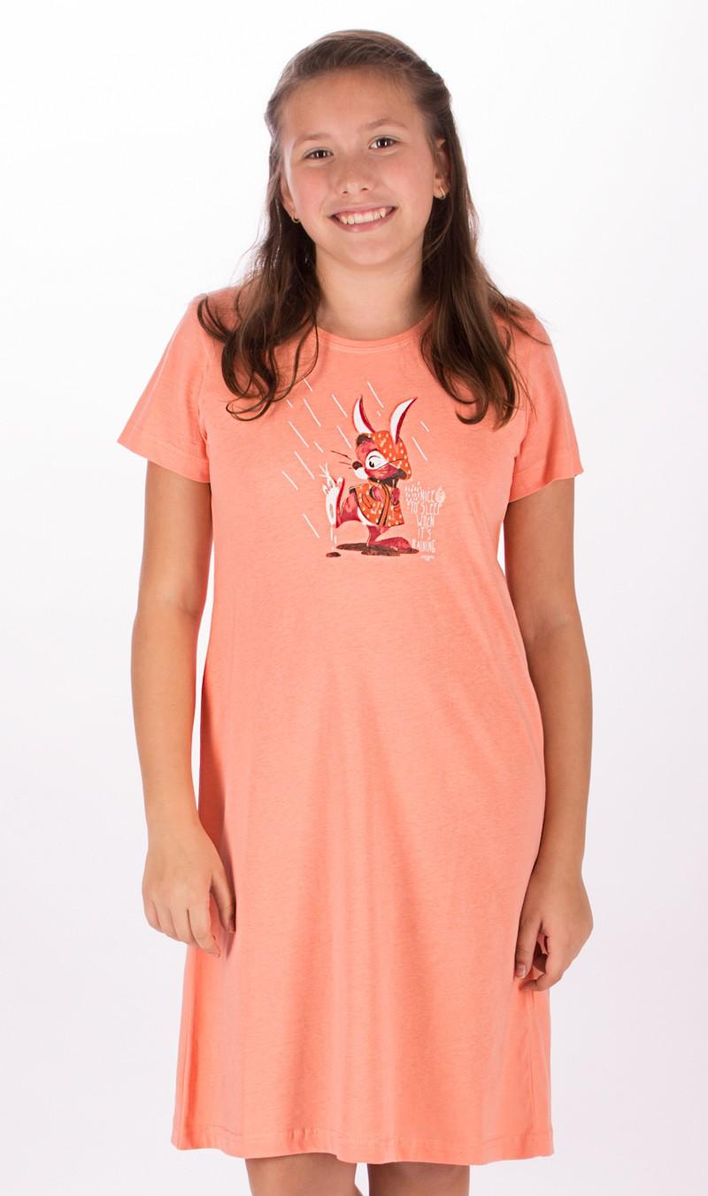 Dětská noční košile s krátkým rukávem Vienetta Secret Zajíc v pláštěnce
